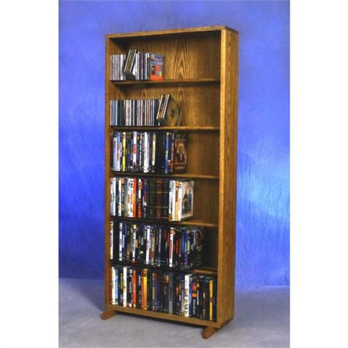 View a large image of the Wood Shed Solid Oak Combination CD and DVD Tower TWS-615-24COMBO here.