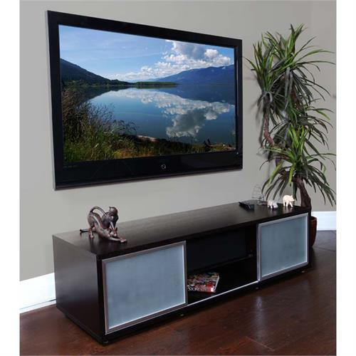 View a large image of the Plateau TV Stand for 48-65 in. TVs Espresso Silver Frame SR-V 65 EB-S here.