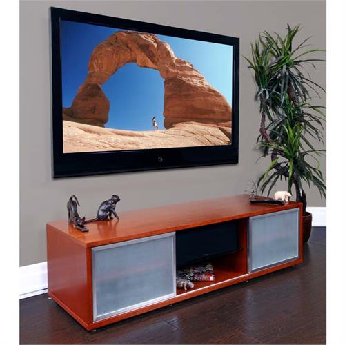View a large image of the Plateau TV Cabinet for 48-65 in. TVs Walnut Silver Frame SR-V 65 WB-S here.