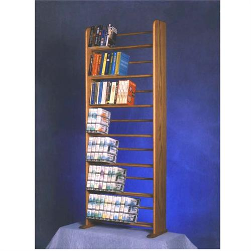 View a large image of the Wood Shed Solid Oak CD DVD and Book Shelf TWS-705-Bookcase here.