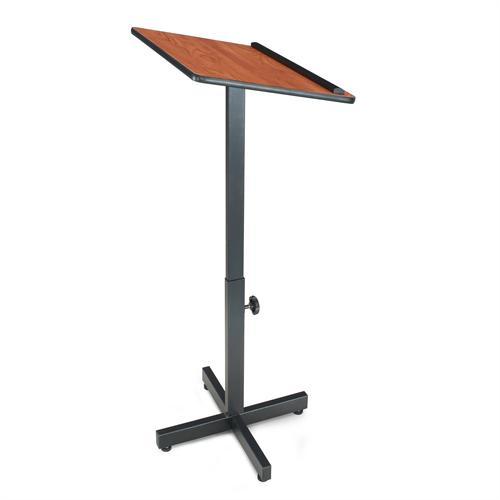 View a large image of the Oklahoma Sound Portable Presentation Lectern Stand Cherry 70-CH here.