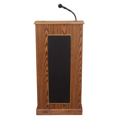 View a large image of the Oklahoma Sound Prestige Lectern with Sound (Medium Oak) 711-MO here.