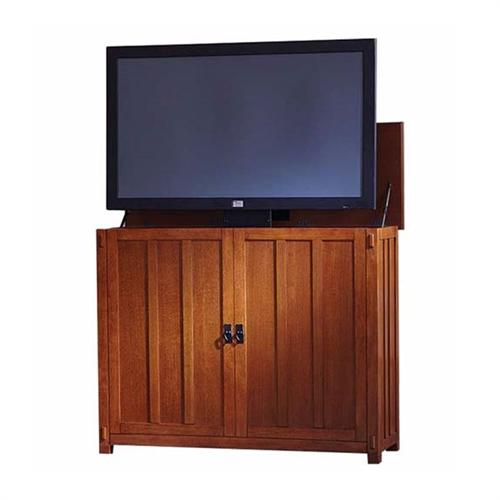 View a large image of the Touchstone Elevate Mission TV Lift Cabinet for 24-46 inch Screens Light Oak 72006 here.