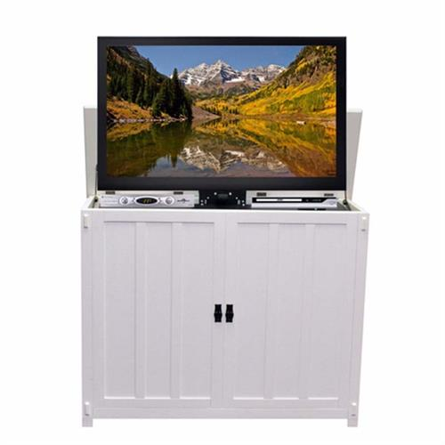 View a large image of the Touchstone Elevate Mission TV Lift Cabinet for 50 inch Screens White 72013 here.