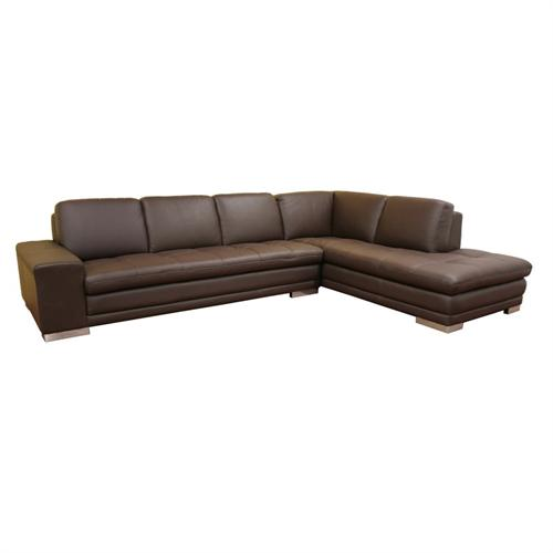 View a large image of the Wholesale Interiors Callidora Leather Sofa Sectional Brown 766-SOFA-LYING-M9256 here.