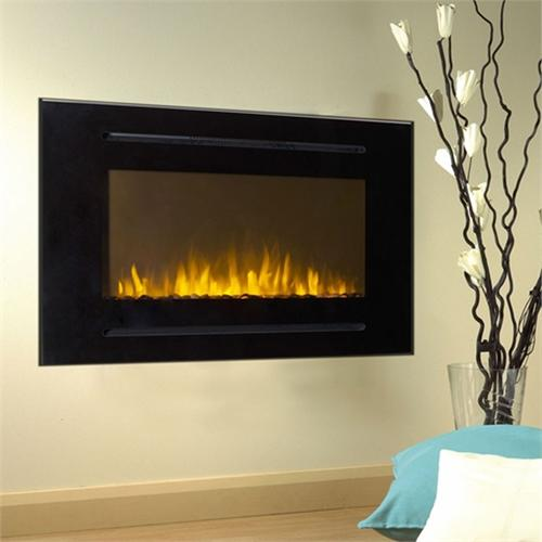 View a large image of the Touchstone Forte 40 inch Wall Mounted Recessed Electric Fireplace Black 80006 here.