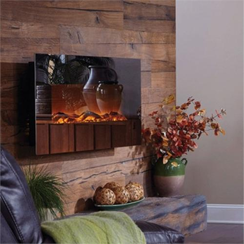 View a larger image of the Touchstone Mirror Onyx 50 inch Electric Wall Mounted Fireplace with Mirror Glass (Black) 80008.