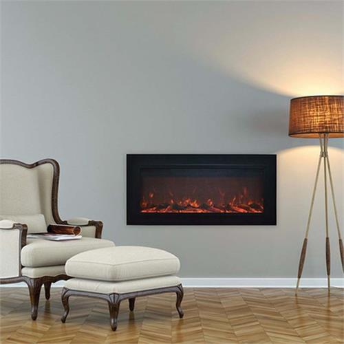 View a large image of the Touchstone Sideline 50 inch Wall Mounted Electric Fireplace Black 80013 here.