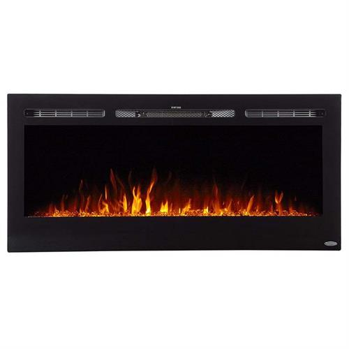 View a large image of the Touchstone Sideline 45 in. Wall Mounted Electric Fireplace Black 80025 here.
