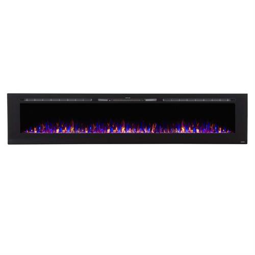 View a large image of the Touchstone Sideline 100 inch Wall Mounted Electric Fireplace Black 80032 here.