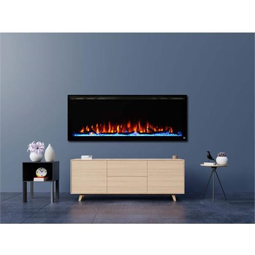 View a large image of the Touchstone Sideline 50 in. Elite Wall Mounted Electric Fireplace 80036 here.