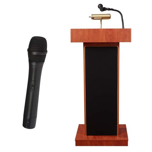 View a large image of the Oklahoma Sound Orator Lectern with Wireless Mic (Cherry) 800X-CH/LWM-5 here.