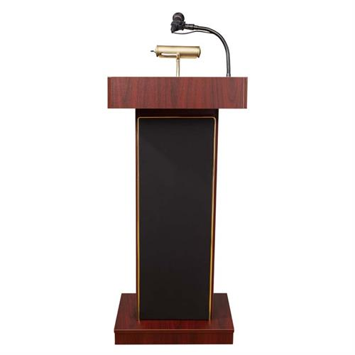 View a large image of the Oklahoma Sound Orator Lectern with Sound and Mic (Mahogany) 800X-MY here.