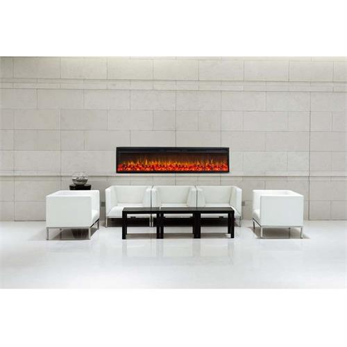 View a large image of the Touchstone Emblazon 72 in. Linear Wall Mounted Electric Fireplace 80133 here.