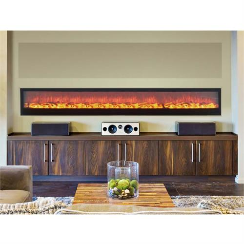 View a large image of the Touchstone Emblazon 96 in. Linear Wall Mounted Electric Fireplace 80134 here.