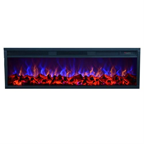 View a large image of the Touchstone Emblazon 50 in. Linear Wall Mounted Electric Fireplace 80131 here.