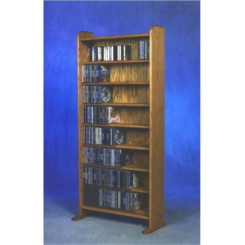 View a large image of the Wood Shed Solid Oak Cabinet CD Rack TWS-802 here.