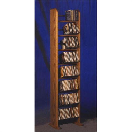 View a large image of the Wood Shed Solid Oak Dowel Space Saver CD Rack TWS-804 here.