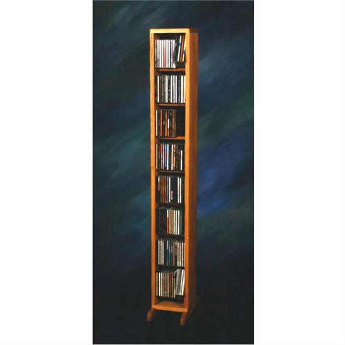 View a large image of the Wood Shed Solid Oak Dowel Space Saver CD Rack Oak Finish TWS-806 here.