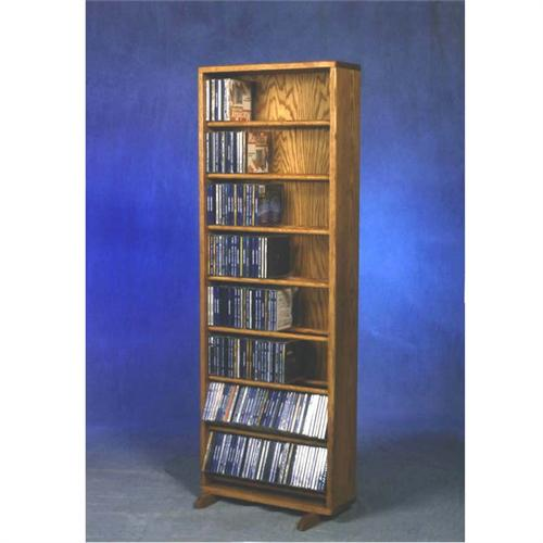 View a large image of the Wood Shed Solid Oak Dowel Space Saver CD Rack TWS-806-18 here.