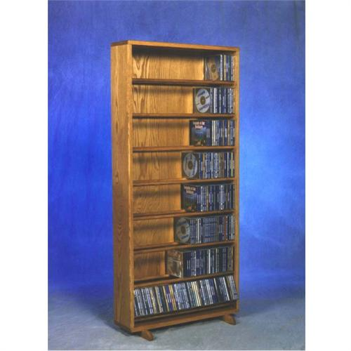 View a large image of the Wood Shed Solid Oak Dowel Space Saver CD Rack TWS-806-24 here.