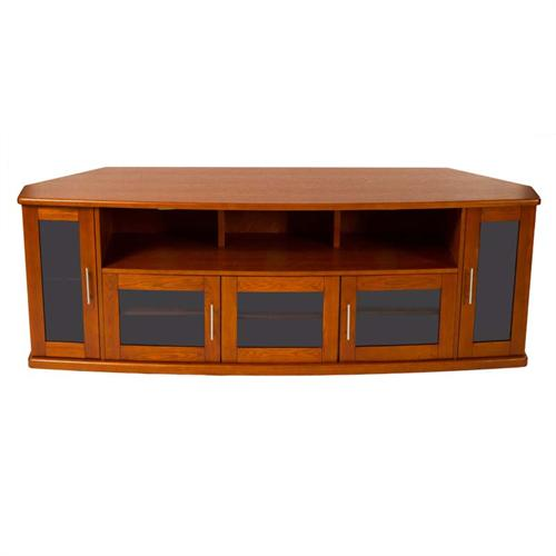 View a large image of the Plateau Corner Wood TV Cabinet up to 90 in. TVs Walnut Newport 80 W here.