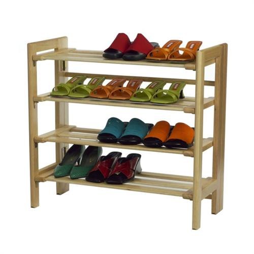View a large image of the Winsome Wood 4 Tier Stackable Shoe Rack Natural Finish 81228 here.