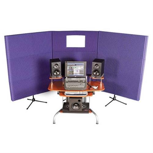 View a large image of the Auralex Acoustics Deluxe MAX-Wall Mobile Expandable Sound Control Booth Kit Purple MAX831PUR here.