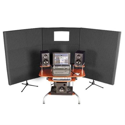 View a large image of the Auralex Acoustics Mobile Sound Control Booth Kit Charcoal MAX831CHA here.