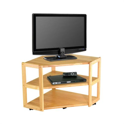 winsome wood derby corner tv stand for screeens up to 32 inches natural wood 83423. Black Bedroom Furniture Sets. Home Design Ideas