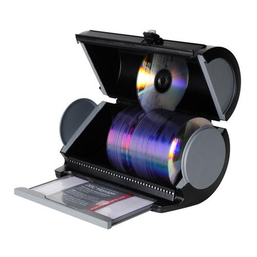 View a large image of the Atlantic Disc Manager 80 Disc Storage Drum Black Black 85012055 here.
