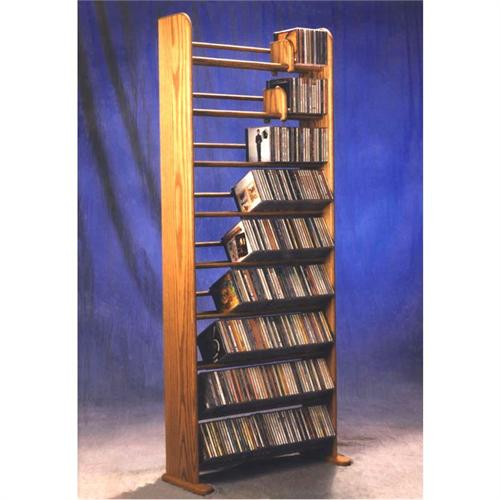 View a large image of the Wood Shed Solid Oak Dowel CD Rack TWS-901 here.