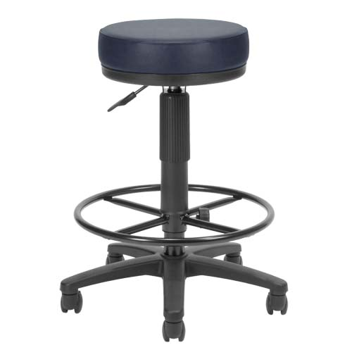 View a large image of the OFM UtiliStool Vinyl Anti-Bacterial Computer Stool With Drafting Kit Navy 902-VAM-DK-605 here.