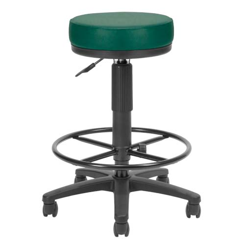 View a large image of the OFM UtiliStool Vinyl Anti-Bacterial Computer Stool With Drafting Kit Teal 902-VAM-DK-602 here.