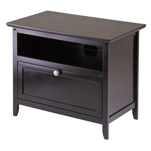 View a large image of the Winsome Wood Zara TV Stand for 10-20 inch Screens Dark Espresso 92125 here.