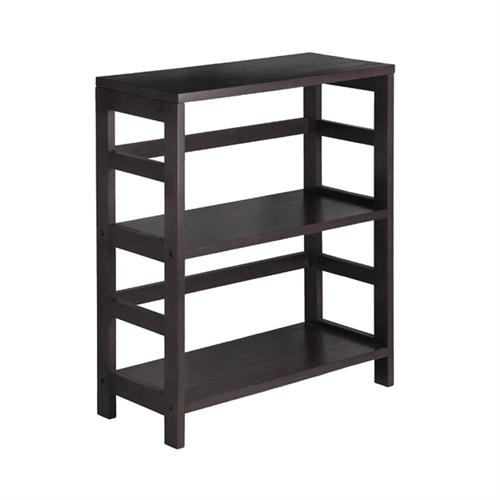 View a large image of the Winsome Wood Leo Extra-Wide 2-Tier Shelf Espresso 92326 here.