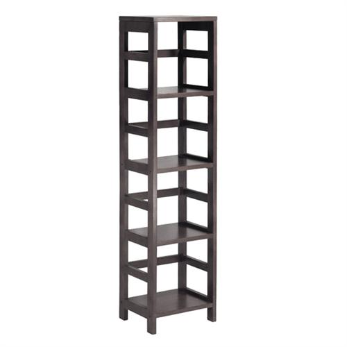 View a large image of the Winsome Wood Leo 4-Tier Shelf Espresso 92514 here.
