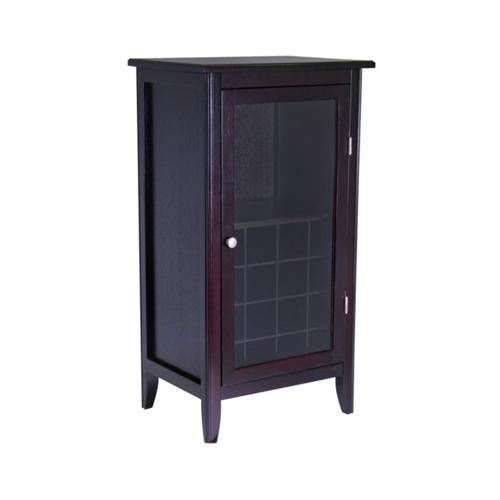 View a large image of the Winsome Wood Ryan Wine Cabinet with Glass Door 92522 here.