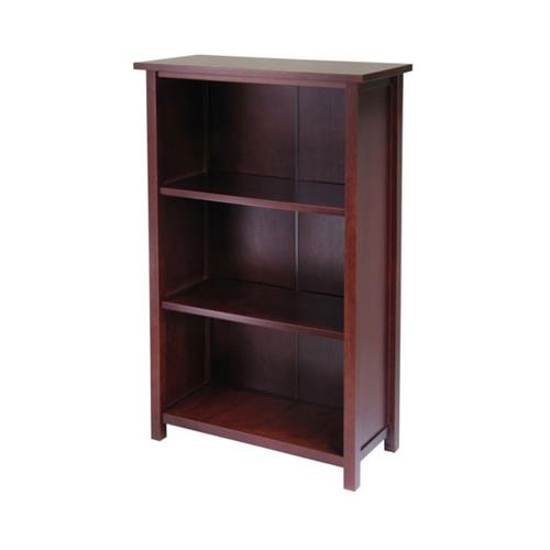 View a large image of the Winsome Wood Milan Extra-Wide 3-Tier Shelf 94328 here.