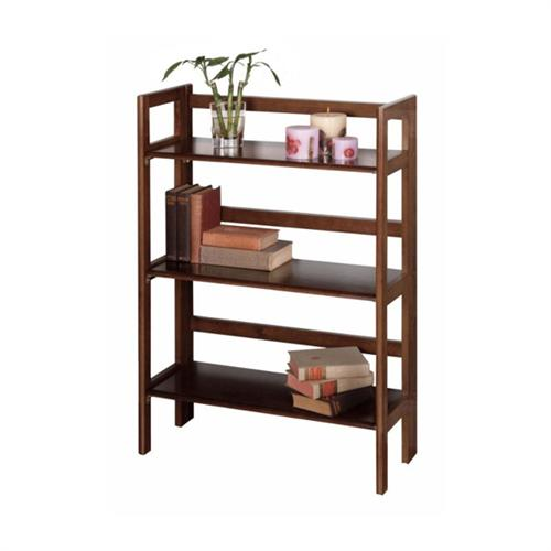 View a large image of the Winsome Wood 3 Tier Folding Shelf Walnut Finish 94896 here.