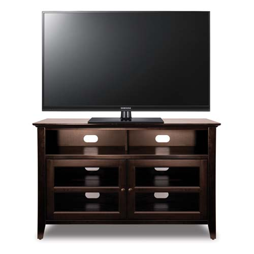 View a large image of the Bello No Tools Assembly 46 inch Wood TV Cabinet Dark Espresso WAVS99144 here.