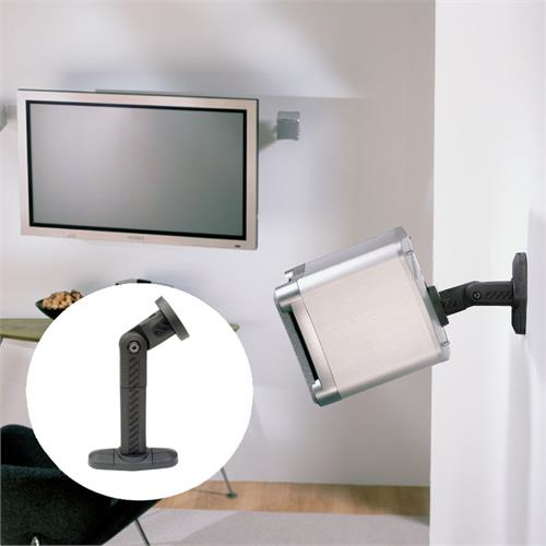 View a large image of the OmniMount Audio Basics Series Wall or Ceiling Speaker Mount Black AB1 here.