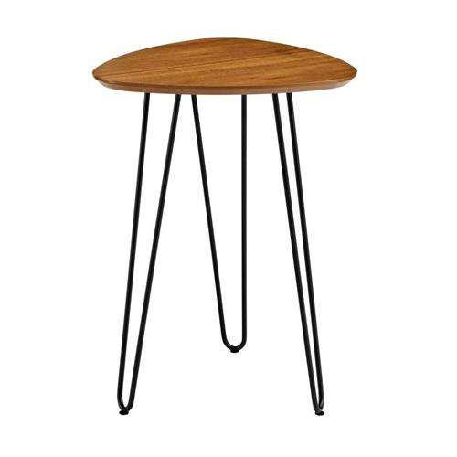 View a large image of the Walker Edison Hairpin Leg Side Table Walnut AF18HPSTWT here.