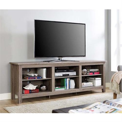View a large image of the Walker Edison Essentials 70 inch TV Stand Driftwood W70CSPAG here.