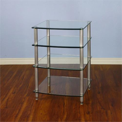View a larger image of the VTI 4 Shelf Audio Rack with Glass Shelves (Silver) AGR404S.