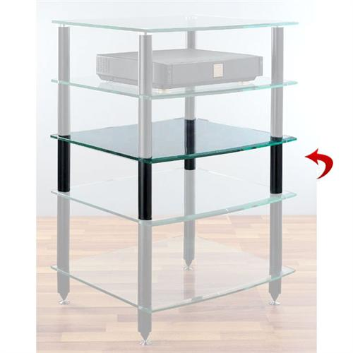 View a large image of the VTI Center Add-On Shelf for AGR Series Racks Black or Silver Poles here.