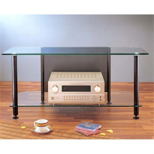 View a large image of the VTI AGR Series 44 inch Glass Audio Video Rack TV Stand Black AGR44B here.