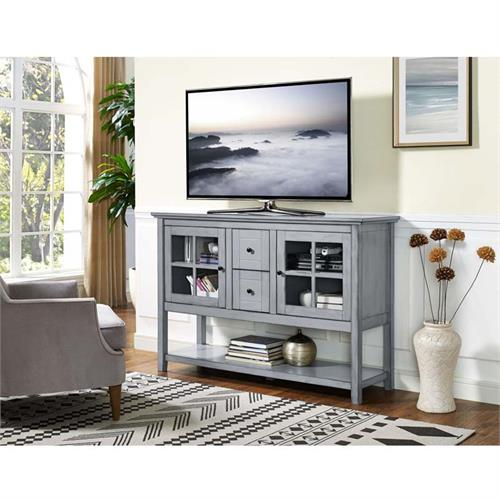 Walker Edison Highboy 55 Inch Tv Cabinet Antique Grey