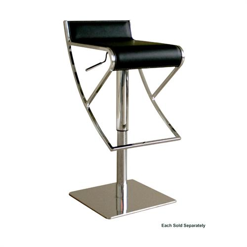 View a large image of the Wholesale Interiors Adjustable Leather Bar Stool Black ALC-2215-BLACK here.