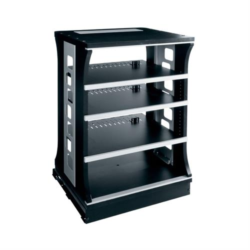 View a larger image of the Middle Atlantic Slide and Rotate Rack (30 H, 21 D, 4 Shelf) ASR-30-HD.